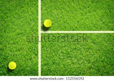 Tennis on grass - stock photo