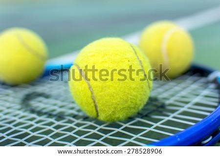 Tennis,Racket. - stock photo