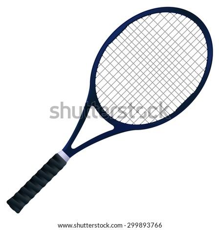 Tennis racket. isolated on white background. Raster version - stock photo