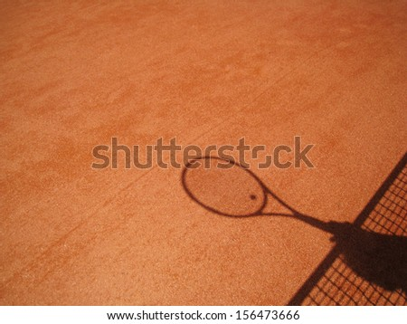 tennis racket shadow 1