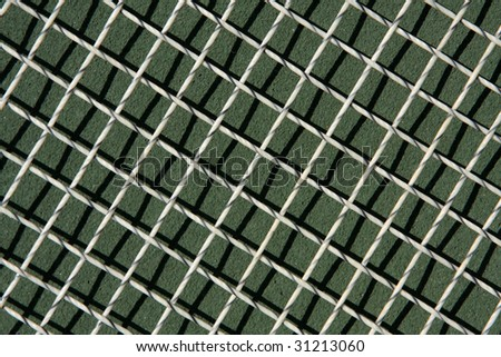 Tennis racket strings for sports background