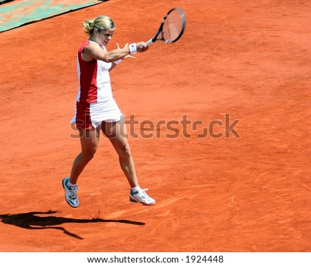 Tennis Swing - stock photo