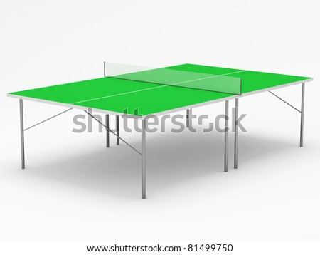 Tennis table on white background