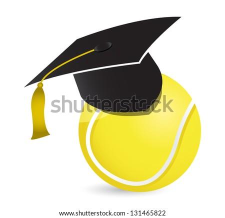 Tennis training school illustration design over white - stock photo