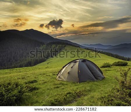 tent - stock photo