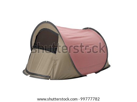 Tent isolated on white background - stock photo
