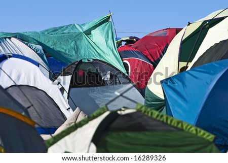 Tent Town - stock photo