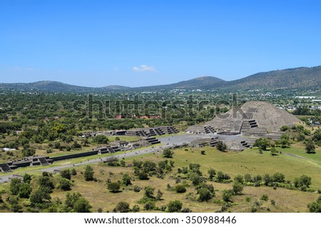 Teotihuacan ruins - stock photo