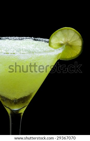 Tequila margarita whit lime - stock photo