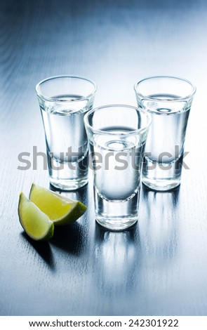Tequila Shots - stock photo