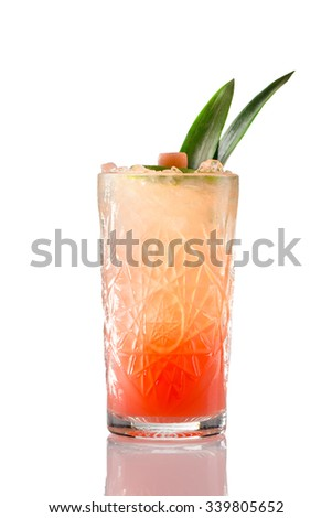 Tequila Sunrise Cocktail - stock photo