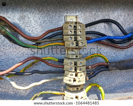 Terminal Power Cables Connection Electric Motor Stock Photo (Edit ...