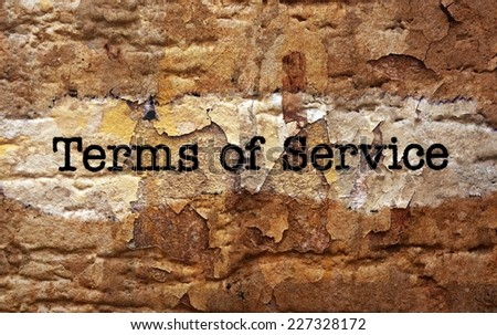 Terms of service - stock photo