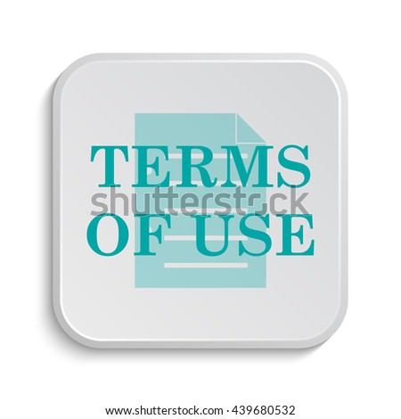Terms of use icon. Internet button on white background.