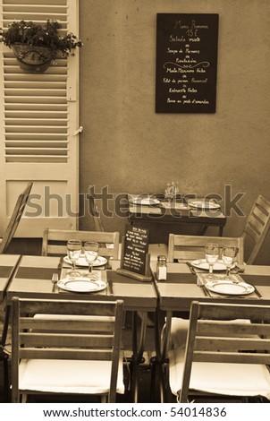 Terrace - stock photo