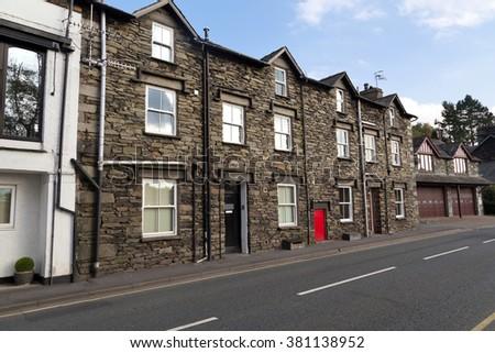 terrace houses - stock photo