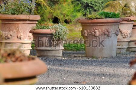 Terracotta Pot Stock Images RoyaltyFree Images Vectors