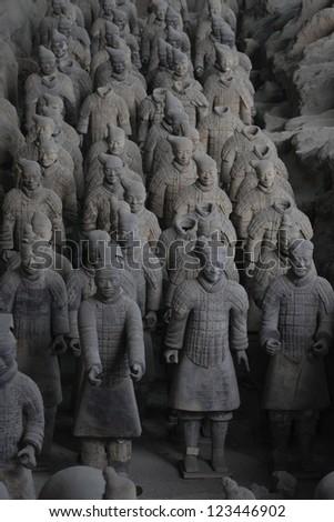 Terracotta warriors - stock photo