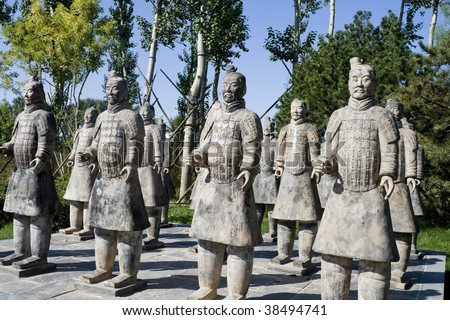Terracotta Warriors in the china
