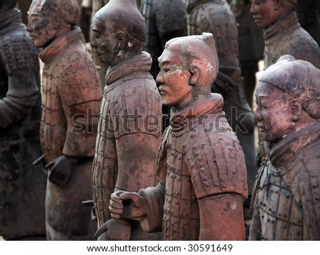 Terracotta Warriors of China (as famous as Mummy of Egypt) - stock photo