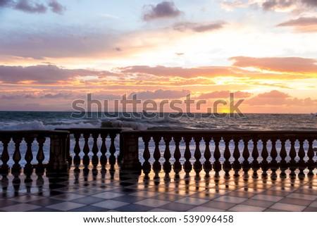 Terrazza Mascagni Livorno Sunset Stock Photo (Safe to Use) 539096458 ...