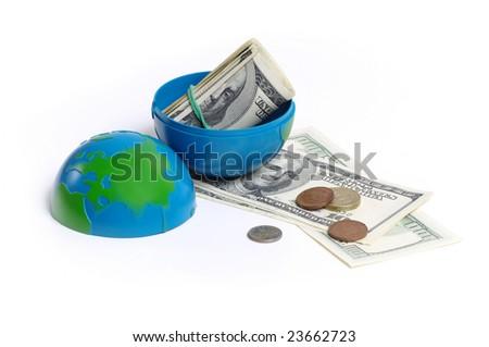 terrestrial globe - stock photo