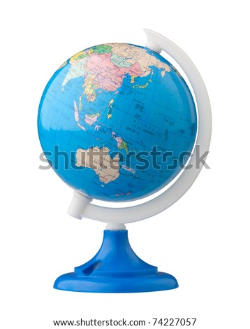 Terrestrial globe for learning about world map - stock photo