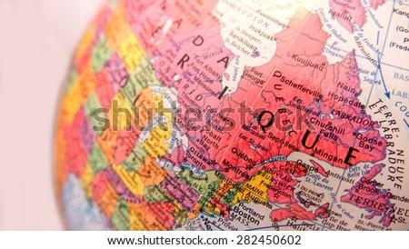 Terrestrial sphere, Quebec, Montreal, Ottawa, Toronto - stock photo