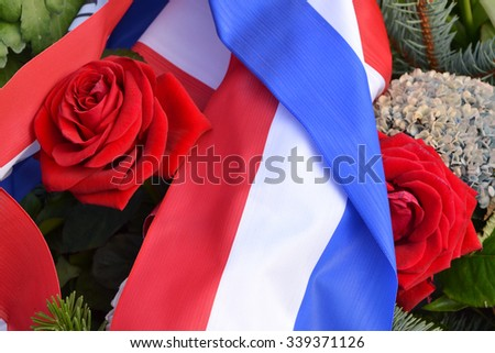 Terror France memorial to victims - stock photo