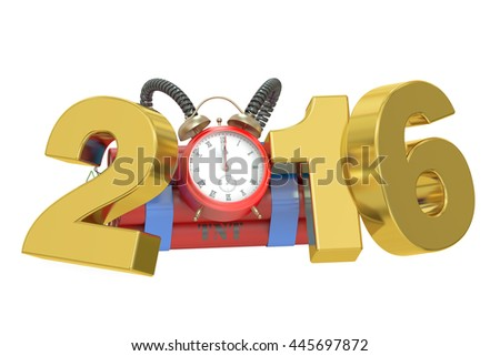 terrorism threat in 2016 year concept. 3D rendering - stock photo