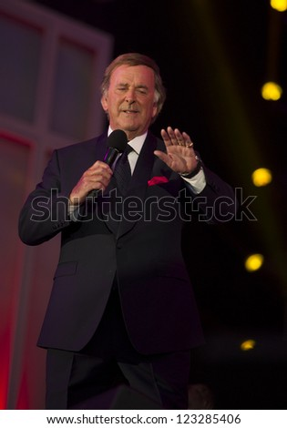 Terry Wogan on stage at The 2012 BBC Proms in the Park, Hype Park, London. 08/09/2012