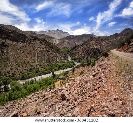 Tessaout river, Tessaout valley, Morocco