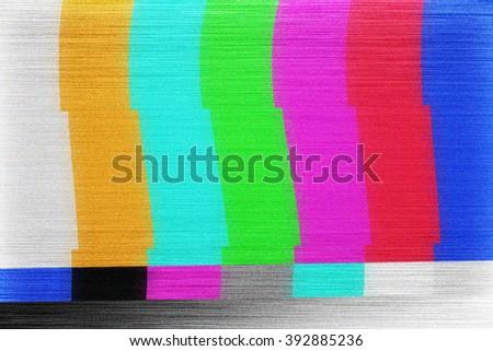 Test Screen Glitch Texture - stock photo