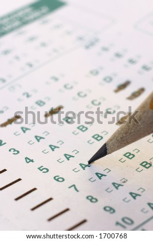 test taking - stock photo