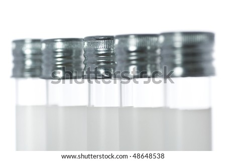 test tubes in a row