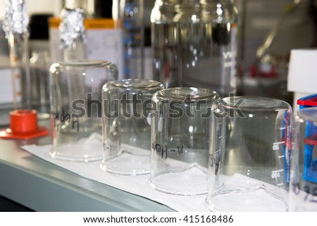 Test Tubes in Chemical Laboratory - stock photo