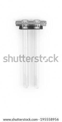 Test tubes isolated on white. Vertical format - stock photo