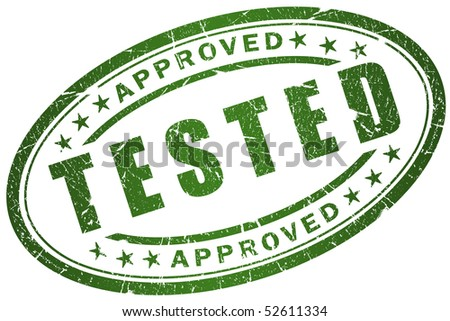 Tested stamp - stock photo