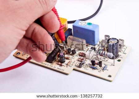 Testing a board - stock photo
