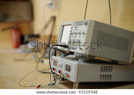 Testing electronic equipment for maternity clinic - stock photo