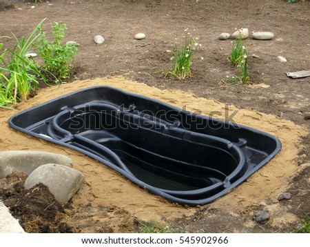 Somes pond stock images royalty free images vectors for Koi pond insert