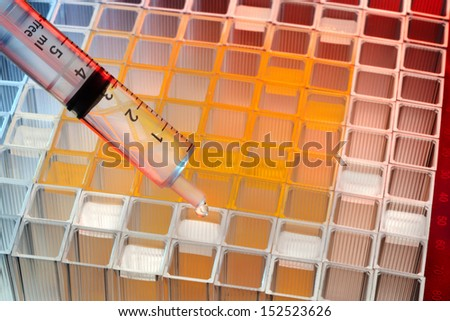 Testing of Microbiological samples in a hospital Pathology Laboratory. - stock photo