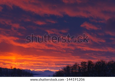 teton valley sunset - stock photo