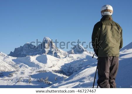 Teton view - stock photo