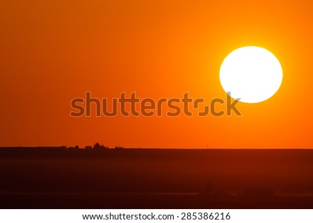 Tetonia Sunset - stock photo