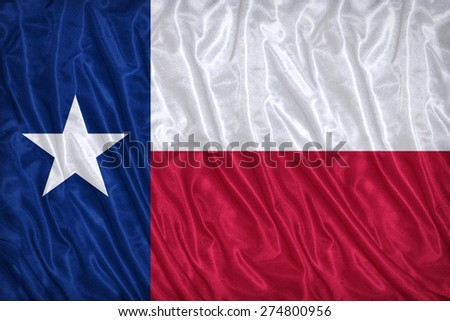 Texas flag pattern on the fabric texture ,vintage style - stock photo