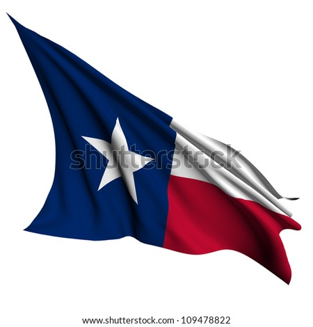 Texas flag - USA state flags collection no_2 - stock photo