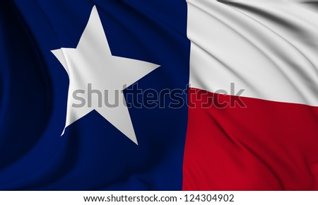 Texas flag - USA state flags collection no_3 - stock photo