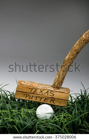Texas golf putter straight off the old tree. - stock photo