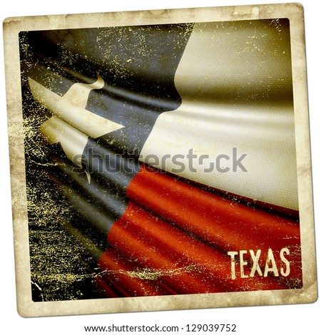 Texas grunge sticker - stock photo